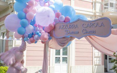 Un Circo di emozioni per il battesimo di Azzurra Carola