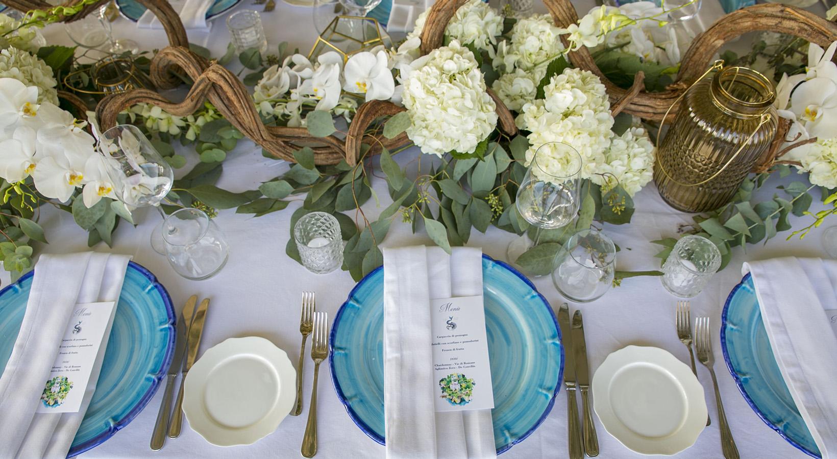 allestimento tavoli alba greco