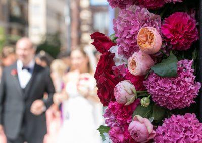 Un matrimonio nei toni del rosso e del fucsia
