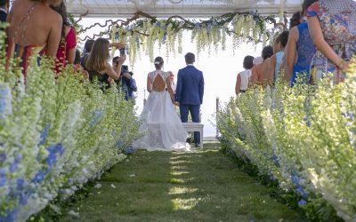 Addobbi e composizioni floreali da sogno per il matrimonio di Simona e Luigi
